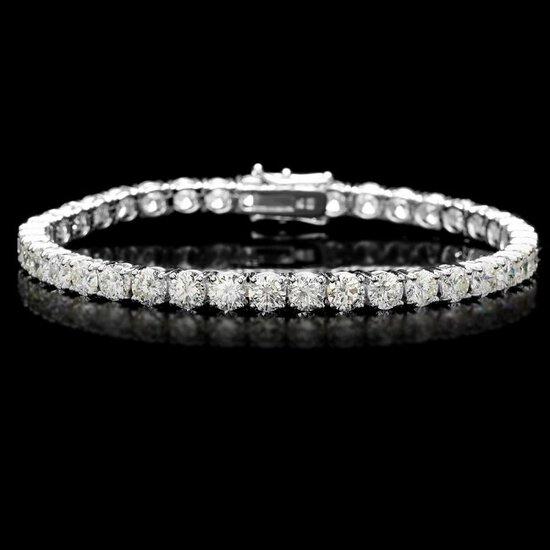 18k White Gold 13.00ct Diamond Tennis Bracelet
