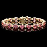 14k 15.00ct Tourmaline 0.80ct Diamond Bracelet