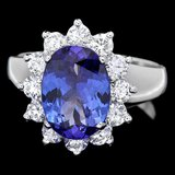 14k Gold 3.00ct Tanzanite 1.00ct Diamond Ring
