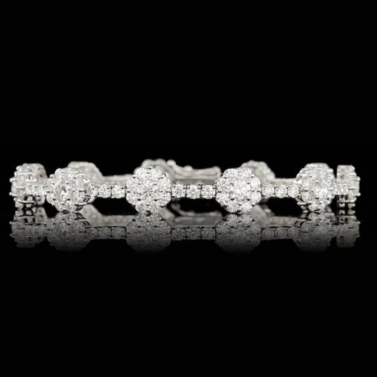 18k White Gold 9.50ct Diamond Bracelet