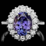 14k Gold 4.00ct Tanzanite 1.00ct Diamond Ring