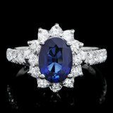 14k Gold 2.00ct Sapphire 0.80ct Diamond Ring