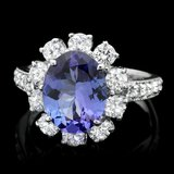 14k Gold 3.00ct Tanzanite 1.40ct Diamond Ring