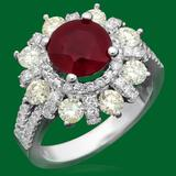 14k Gold 3.02ct Ruby 1.85ct Diamond Ring