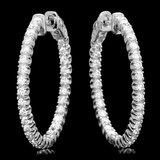 14k White Gold 1.90ct Diamond Earrings