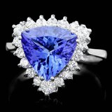 14k Gold 3.00ct Tanzanite 0.70ct Diamond Ring