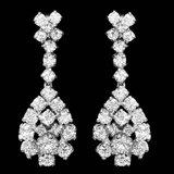 14k White Gold 2.85ct Diamond Earrings