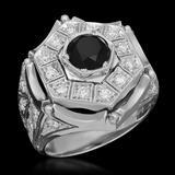 14K Gold 1.95ct Fancy Color Diamond 3.25ct Diamond Ring