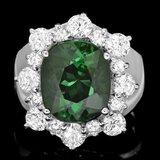 14k Gold 6.40ct Tourmaline 1.65ct Diamond Ring