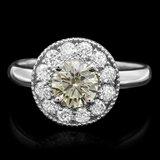 14k White Gold 1.45ct Diamond Ring