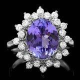14k Gold 3.50ct Tanzanite 0.75ct Diamond Ring