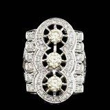 14k White Gold 2.75ct Diamond Ring