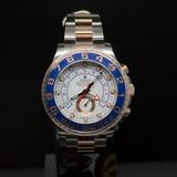 Rolex Two-Tone 44mm Yacht Master II Steel & EverRose Gold Men's Wristwatch