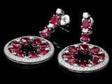 14k Gold 18.50ct Ruby 1.60ct Diamond Earrings