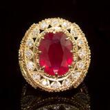 14K Gold 13.63ct Ruby 2.42ct Diamond Ring