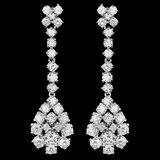 14k White Gold 3.30ct Diamond Earrings