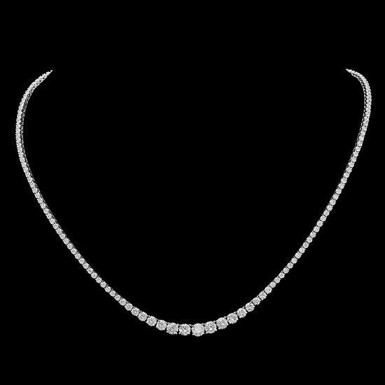 18K Gold 7.57ct Diamond Necklace