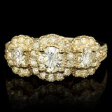 14k Yellow Gold 1.95ct Diamond Ring