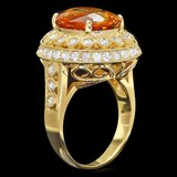 14k Gold 6.00ct Citrine 1.35ct Diamond Ring