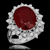 14K Gold 6.06ct Ruby 0.71ct Diamond Ring
