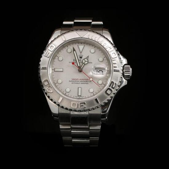 Rolex YachtMaster SS 40mm Mens Wristwatch