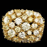 14k Yellow Gold 3.10ct Diamond Ring