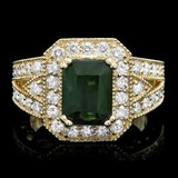 14k Gold 3.00ct Tourmaline 1.20ct Diamond Ring