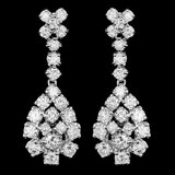 14k White Gold 2.80ct Diamond Earrings