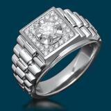 14k White Gold 0.45ct & 1.02ct Diamond Ring