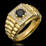 14k Yellow Gold 0.65ct & 1.01ct Diamond Ring