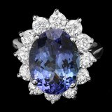 14k Gold 6.50ct Tanzanite 2.00ct Diamond Ring