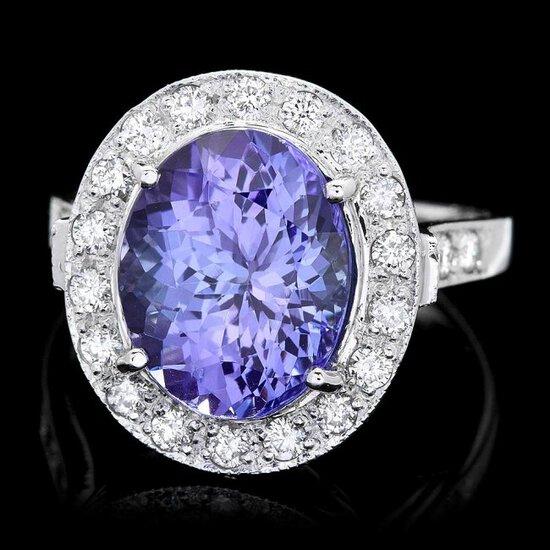 14k Gold 5.00ct Tanzanite 0.70ct Diamond Ring