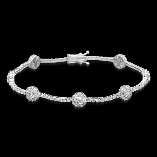 18k White Gold 5.95ct Diamond Bracelet