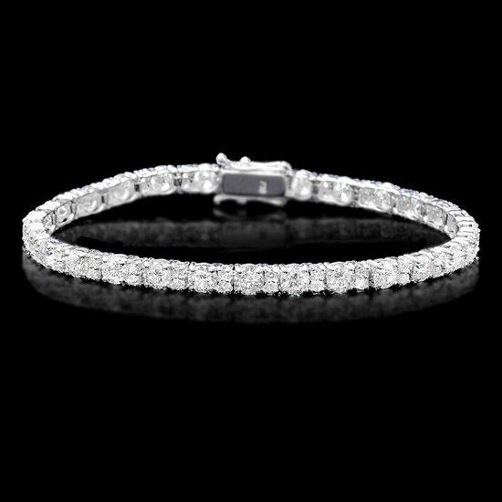 18k White Gold 8.60ct Diamond Bracelet