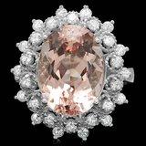 14k Gold 6.00ct Morganite 0.75ct Diamond Ring