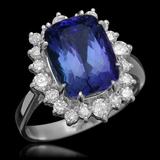 14K Gold 4.00ct Tanzanite 0.90ct Diamond Ring