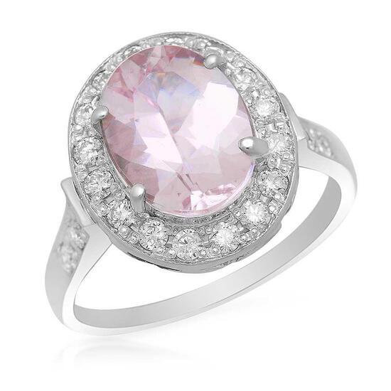 14K Gold 2.66ct Morganite 0.55ct Diamond Ring