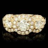 14k Yellow Gold 2.3ct Diamond Ring