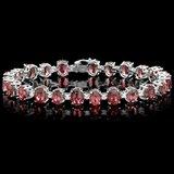 14k 28.00ct Tourmaline 1.70ct Diamond Bracelet