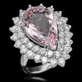 14K Gold 7.52ct Morganite 2.70ct Diamond Ring