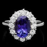 14k Gold 2.60ct Tanzanite 1.00ct Diamond Ring