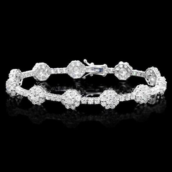 18k White Gold 8.20ct Diamond Bracelet