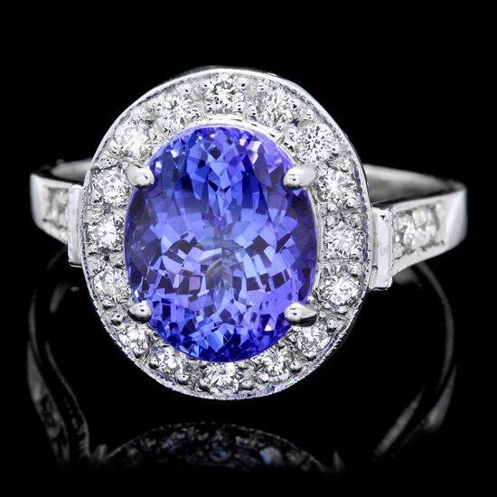 14k Gold 4.00ct Tanzanite 0.50ct Diamond Ring
