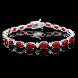 14k Gold 14.00ct Ruby 0.70ct Diamond Bracelet