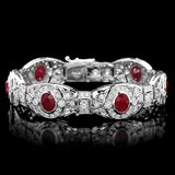 14k Gold 10.80ct Ruby 6.90ct Diamond Bracelet