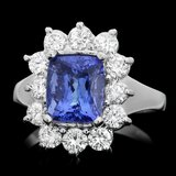 14k Gold 3.00ct Tanzanite 1.10ct Diamond Ring