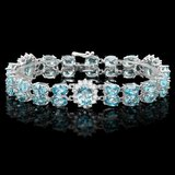 14k Gold 44.5ct Zircon 1.50ct Diamond Bracelet