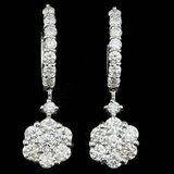 14k White Gold 2.00ct Diamond Earrings