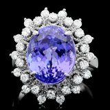 14k Gold 8.50ct Tanzanite 0.85ct Diamond Ring