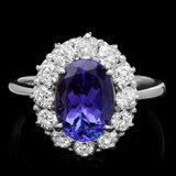 14k Gold 2.60ct Tanzanite 1.00ct Diamond Ring